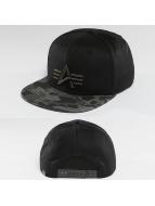 Alpha Industries snapback cap Camo Logo zwart