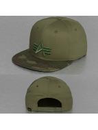 Alpha Industries Snapback Caps Camo Logo camouflage