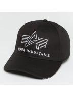 Alpha Industries Snapback Caps Big A Classic musta
