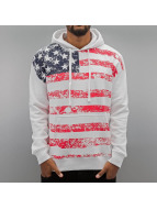 Alpha Industries Sweat à capuche Flag blanc