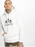 Alpha Industries Sweat à capuche Basic blanc