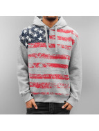 Alpha Industries Sweat à capuche Flag gris