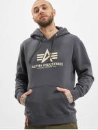 Alpha Industries Sweat à capuche Basic gris