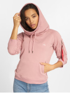 Alpha Industries Sweat à capuche X-Fit magenta