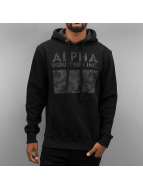 Alpha Industries Sweat à capuche Camouflage Print noir