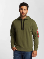 Alpha Industries Sweat capuche X-Fit vert