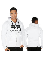 Alpha Industries Sweat capuche zippé Big A Classic blanc