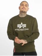 Alpha Industries Swetry Basic zielony