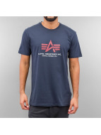 Alpha Industries T-Shirt Basic Foam Print blau