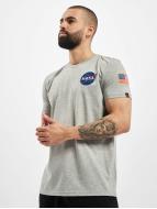 Alpha Industries T-Shirt Space Shuttle gris