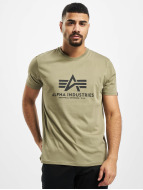 Alpha Industries t-shirt Basic olijfgroen