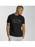 Alpha Industries T-Shirt Camo schwarz