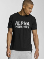 Alpha Industries t-shirt Camo zwart