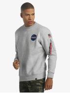 Alpha Industries Tröja Space Shuttle grå