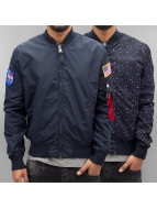 Alpha Industries Veste demi-saison MA-1 TT Nasa bleu