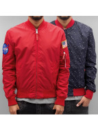 Alpha Industries Veste demi-saison MA-1 TT Nasa rouge
