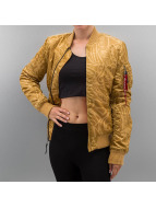 Alpha Industries Winter Jacket Ma-1F Tonga gold colored