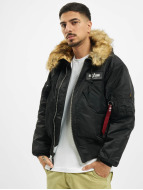 Alpha Industries Winterjacke 45P Hooded Custom schwarz