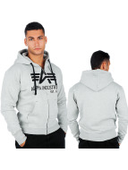Alpha Industries Zip Hoodie Big A Classic серый