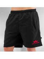 Alpha Industries Alpha Industries Sport Swim Shorts Black Red