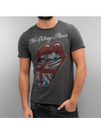 Amplified T-paidat Rolling Stones UK Tongue harmaa