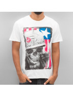 Amplified T-shirt War Is Hell Oil Washed bianco