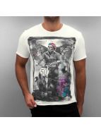 Amplified T-Shirt Winged Biker blanc