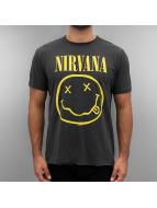 Amplified T-Shirt Nirvana Smiley Face grau