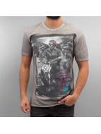 Amplified T-Shirt Winged Biker gray