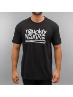 Amplified t-shirt Naughty By Nature Logo zwart