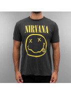 Amplified T-Shirts Nirvana Smiley Face gri