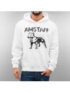 Amstaff Bluzy z kapturem Logo bialy