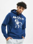 Amstaff Bluzy z kapturem Logo niebieski