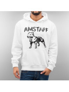 Amstaff Hoody Logo weiß