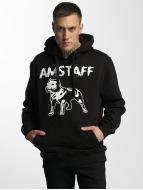 Amstaff Hupparit Logo musta