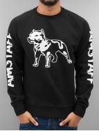 Amstaff Pullover Logo Sweatshirt schwarz