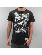 Amstaff T-Shirt Farkas schwarz