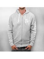 Amstaff Logo Zip Hoody Grey Melange