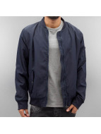Authentic Style Thin Sublevel Bomber Jacket Dark Ocean Blue