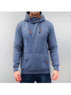 Authentic Style Hoody High Neck blau