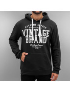 Authentic Style Hoody Vintage Brand zwart