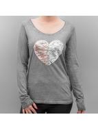 Authentic Style Lång ärm Heart grå