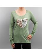 Authentic Style Lång ärm Heart grön