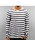Authentic Style Longsleeve Stripes blauw