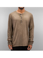 Authentic Style Longsleeve Dyed braun