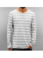 Authentic Style Longsleeve Stripes grau