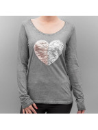 Authentic Style Longsleeve Heart grau