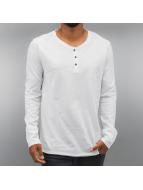 Authentic Style Longsleeve Henley weiß