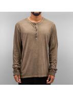 Authentic Style Longsleeves Dyed kahverengi