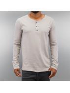 Authentic Style Pitkähihaiset paidat Henley harmaa